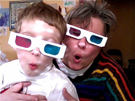 Me and Little Drake fooling around with 3D glasses